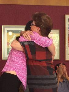 El abrazo emotivo entre Adriana y Concha